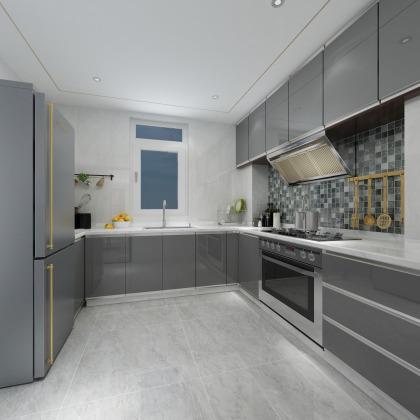中儲城邦G戶型現代廚房